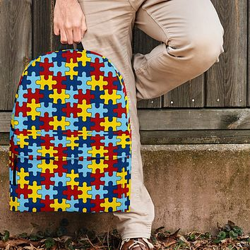 Autism Awareness Backpack Autism Puzzle Pattern Design