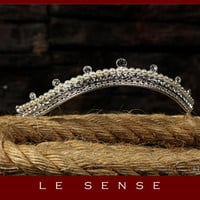 princess tiara crown , tiaras for wedding , crystal tiara hand made for order inlaid with SWAROVSKI Crystals and pearls