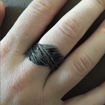 Crow Feather Ring