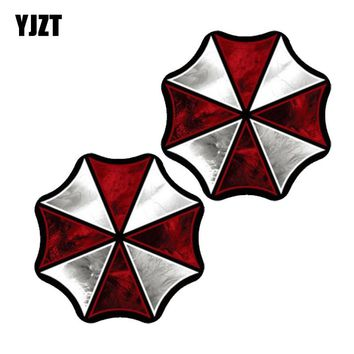 YJZT 10.3CM*10.3CM 2X RESIDENT EVIL UMBRELLA CORPORATION Lnterest Reflective Car Sticker Motorcycle Parts C1-7545