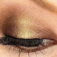 Black Gold Mineral Eyeshadow, Eyeliner - Brown Bronze Gold Metallic Vegan All Natural Highly Pigmented