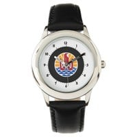 French Polynesian coat of arms Wrist Watches