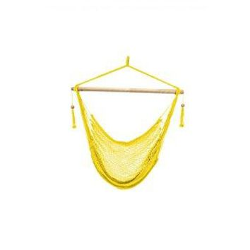 Laid Back - Easy hang Island Rope Hammock Chair - Yellow