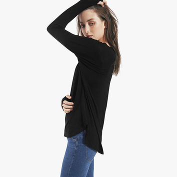 Oversize top with Side slits and dropped shoulder seams / Ash top