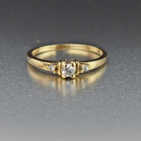 Vintage Solid Gold Engagement Ring
