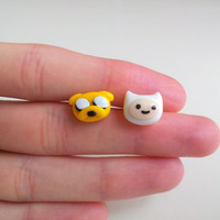 Finn and Jake Adventure Time post earrings