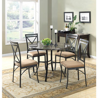 Walmart: Mainstays 5-Piece Faux Marble Top Dining Set