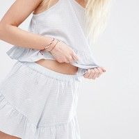 ASOS PETITE Exclusive Textured Beach Short CO ORD