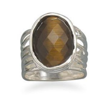 Oval Tiger's Eye Ring