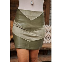Keep The Groove Skirt (Olive)