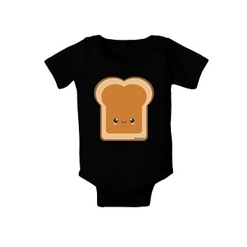 Cute Matching Design - PB and J - Peanut Butter Baby Bodysuit Dark by TooLoud