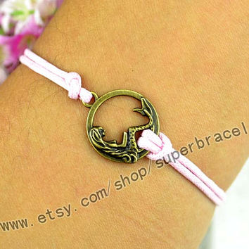 Mermaid bracelet, express Personalized Jewelry, Customize Bracelets, Antique bronze bracelet, Personalized charm Jewelry friendship gift