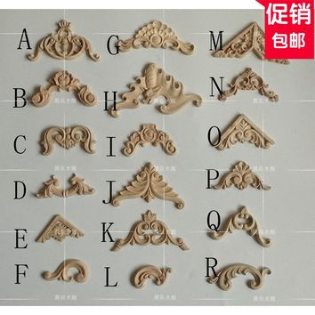 4pcs/lot, small commodity,Wood Applique, European wood trim, decorative decals, door and table decorated with carved(A762)