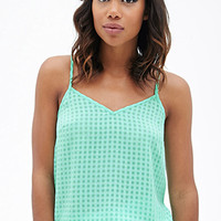 FOREVER 21 Checkered Woven Cami