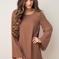 Anywhere You Go Mocha Dress