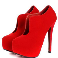 Korean Style Sexy Hight Heel Pump Red