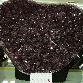 Deep Purple Amethyst Geode Cathedral 12 inches tall-- AAA Grade Amethyst from Brazil- 33 pounds