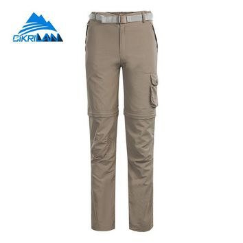 Anti-uv Outdoor Fishing Hiking Pants Women Trekking Camping Removable Cargo Trousers Climbing Sun Protective Pantalones Mujer