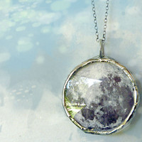 Dark Side of the Moon Pendant Necklace. Size: Small