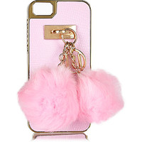 Pink pom pom iPhone 5 phone case - phone / tablet cases - bags / purses - women