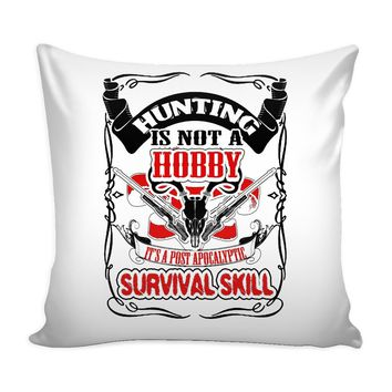 Funny Hunting Graphic Pillow Cover A Post Apocalyptic Survival Skill