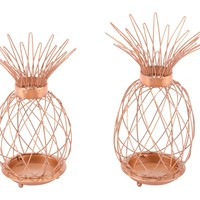 Set Of 2 Pineapple Copper