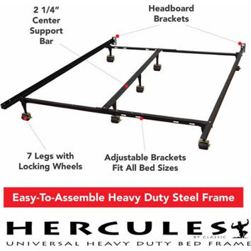 Universal Heavy-Duty Adjustable Twin,Full,Queen, King Size Metal Bed Frame