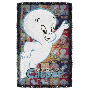Casper The Friendly Ghost-Casper And Covers - Woven Throw