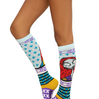 The Nightmare Before Christmas Sally Fair Isle Knee-High Socks