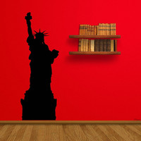 Statue of Liberty Freedom Pride Landscape NY New York Wall Mural Decal vm023