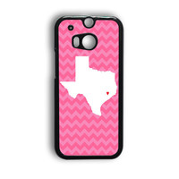 Chevron State Love HTC One M8 Case