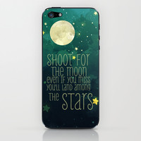 The moon and stars iPhone & iPod Skin by Sara Eshak | Society6