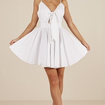 Loving You Sweetly dress in white Produced By SHOWPO