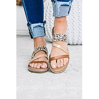 Stepping Into Love Cheetah Slide Sandals