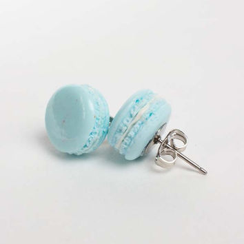 Macaroon Earrings in Blue
