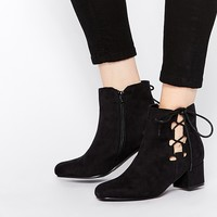 Truffle Collection Luan Side Tie Ankle Boots at asos.com
