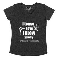 Are you you a Hair Stylist? Then this sexy and funny t-shirt is for...