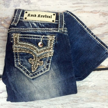 a7b45ded21b ROCK REVIVAL BETTY B7 BOOTCUT JEANS from DECADENCE BOUTIQUE