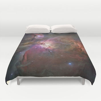 Duvet Cover, Galaxy Bedding Cover, Outer Space Bedroom Decor, Orion Nebula, Home Decor, King, Queen, Full