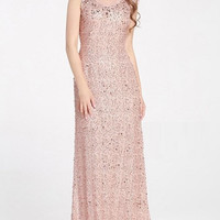 Beaded Sequin Lace Gown