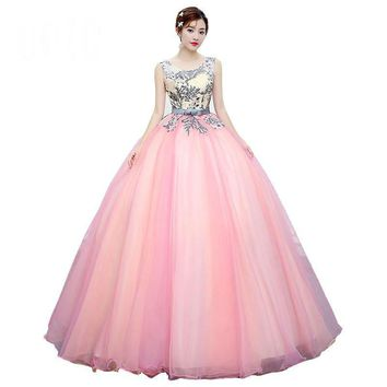 Long Host Dress Sleeveless Backless Style Formal Ball Gown with Lace Bow