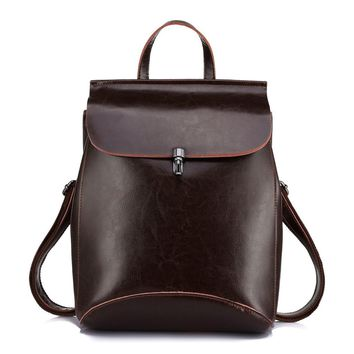 Realer Leather Backpacks Purses Convertible