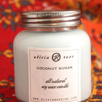 Coconut Sugar 7oz Natural Soy Wax Jar Candle