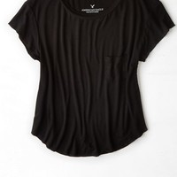 AEO Women's Soft & Sexy Swing T-shirt (Black)