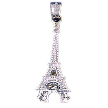 14K WHITE GOLD EIFFEL TOWER CHARM #11278