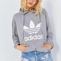 shosouvenir Gray Adidas Print Women's Long Sleeve Hoodies Sweater