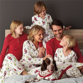 Christmas Family Matching Santa Snow Pajama Set