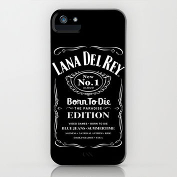 Lana Whiskey Del Rey (WHITE) iPhone & iPod Case by Marvin Fly