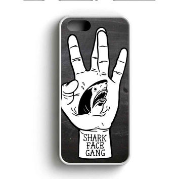 Macklemore And Ryan Lewis Shark Face Gang Black And White Shark Illustrations iPhone 5 Case iPhone 5s Case iPhone 5c Case