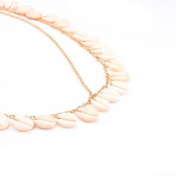 Women Fashion Bohemian Metal Head Chain Shell Headband Head Piece Hair Band GD